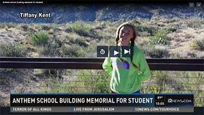 Anthem school building memorial for 6th grader who died in tragic accident